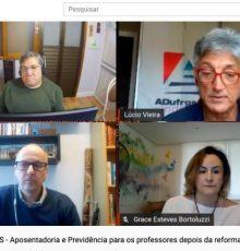 """Os advogados Francis Bordas e Grace Bortoluzzi participaram do """"Conversas da ADUFRGS"""""""